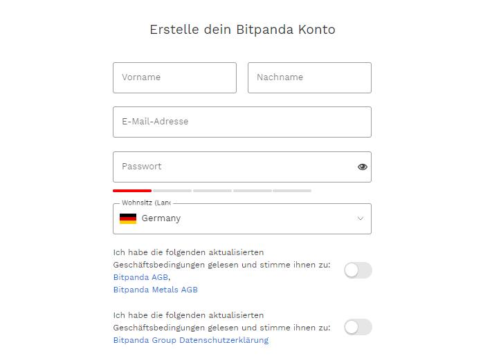 Bitpanda Anmeldung