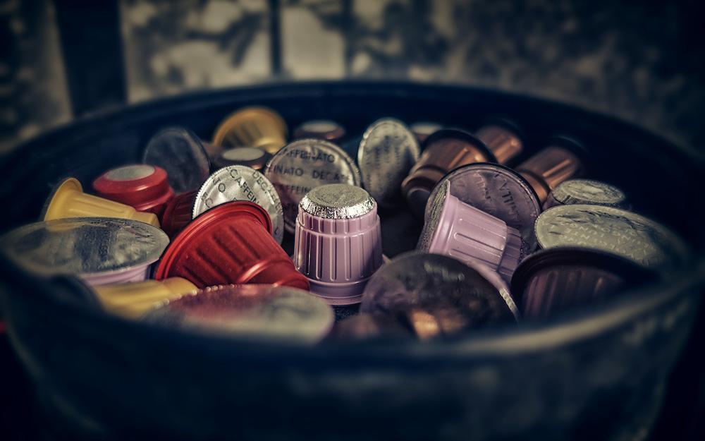 bowl of coffee capsules