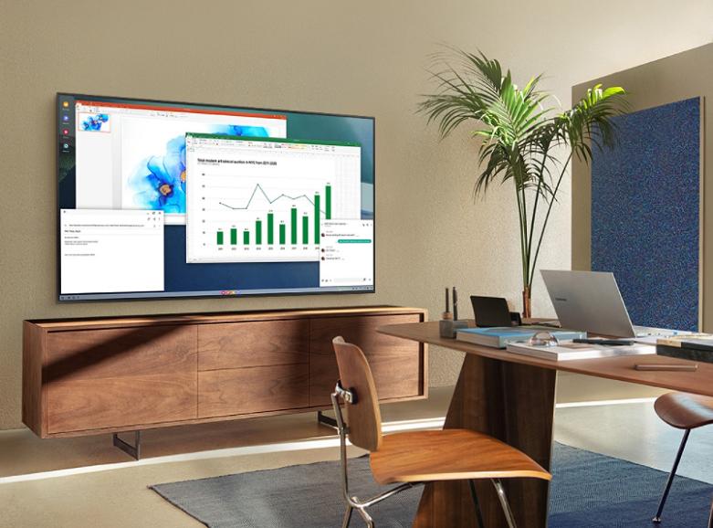 Smart Tivi Samsung 4K UHD 50 inch UA50AU8000KXXV | Làm việc và học tập tại nhà