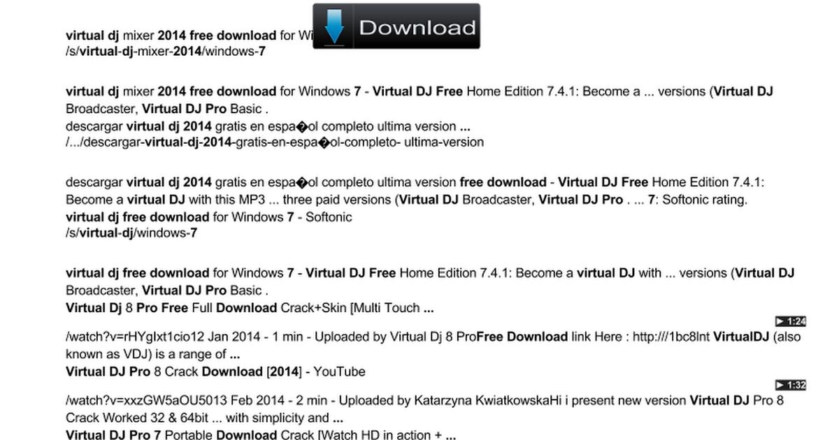 download virtual dj pro 7 f r e e 2014 - Google Drawings