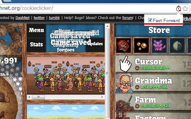 Fast Forward Cookie Clicker Chrome Extension Download for