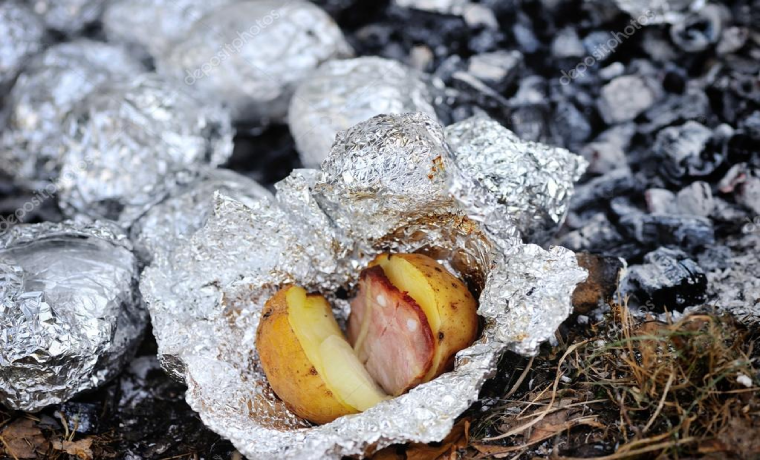camping ideas for dinner grilled potatoes