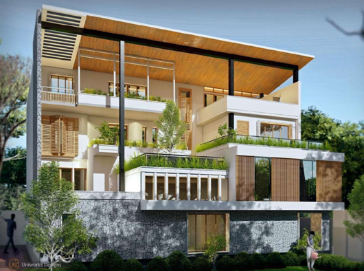 Determine the desired elevation design for your house