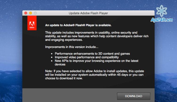 Để gỡ Adobe Flash trên MacBook, bạn cần trình gỡ cài đặt cần thiết