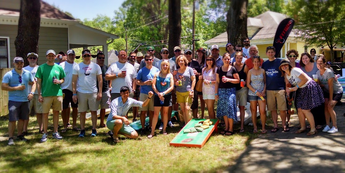 Picture of the participants of the 2015 Reynoldstown Cornhole Tournament