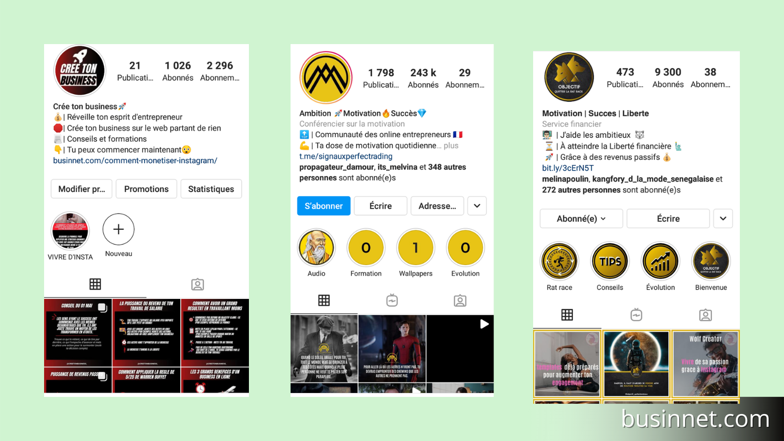 feed Instagram cohérent pour gagner des abonnés