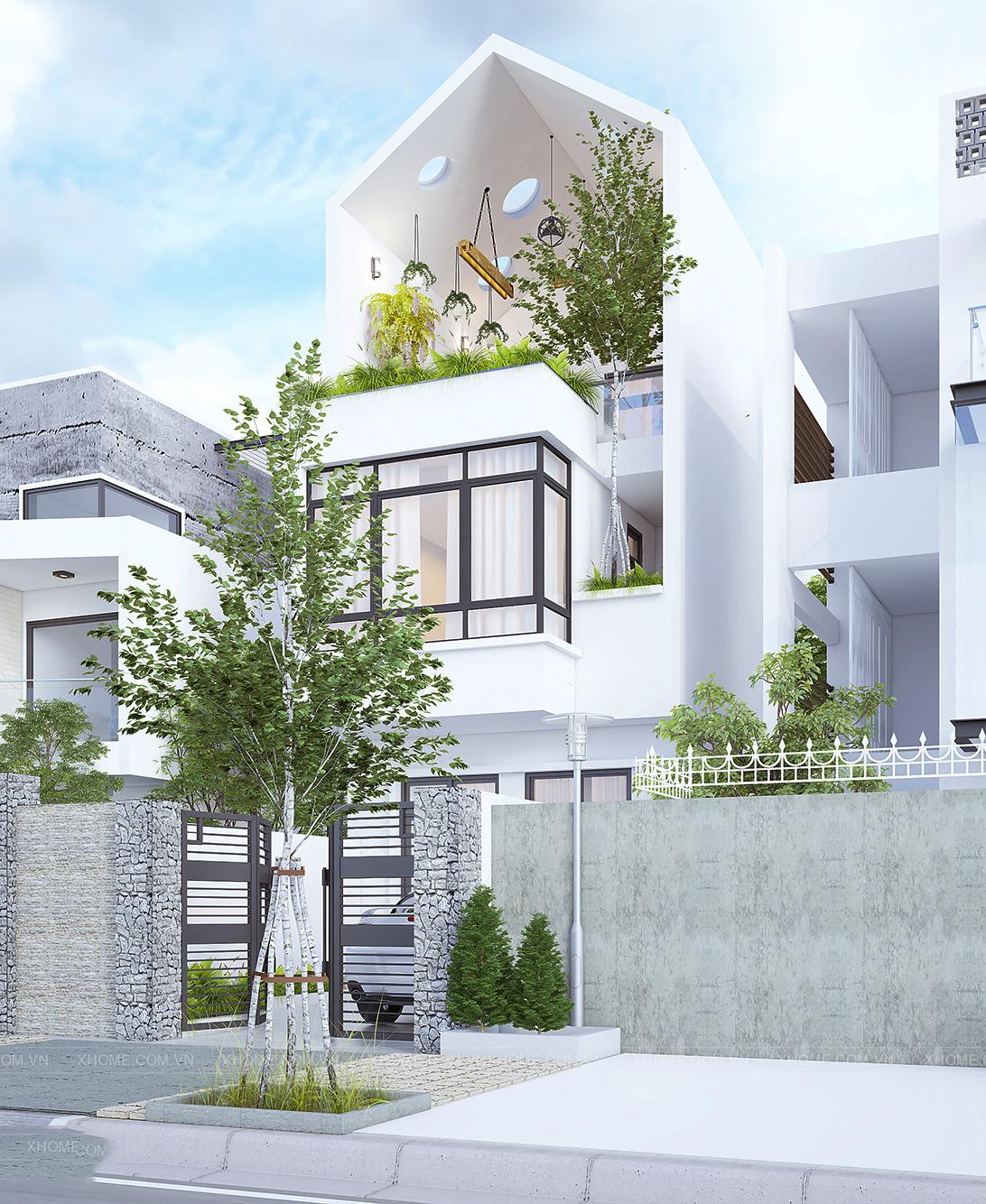 thiết kế nhà phố 3 tầng sang trọng