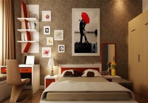 Sử dụng những hình khối để trang trí phòng ngủ