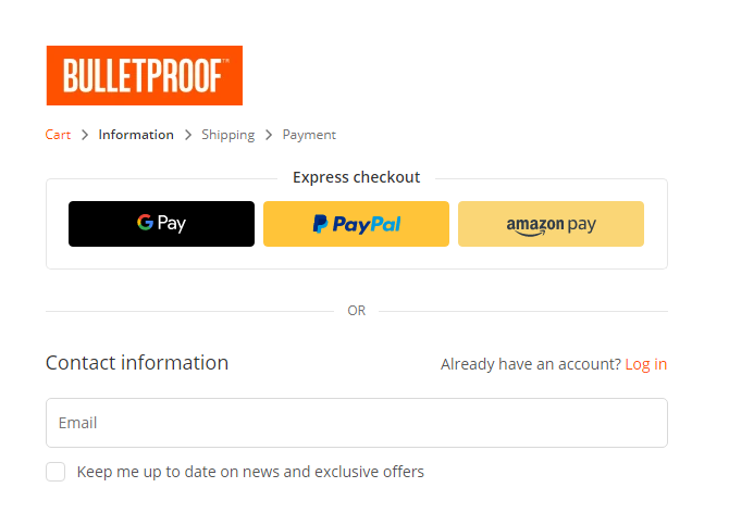 simplified checkout process