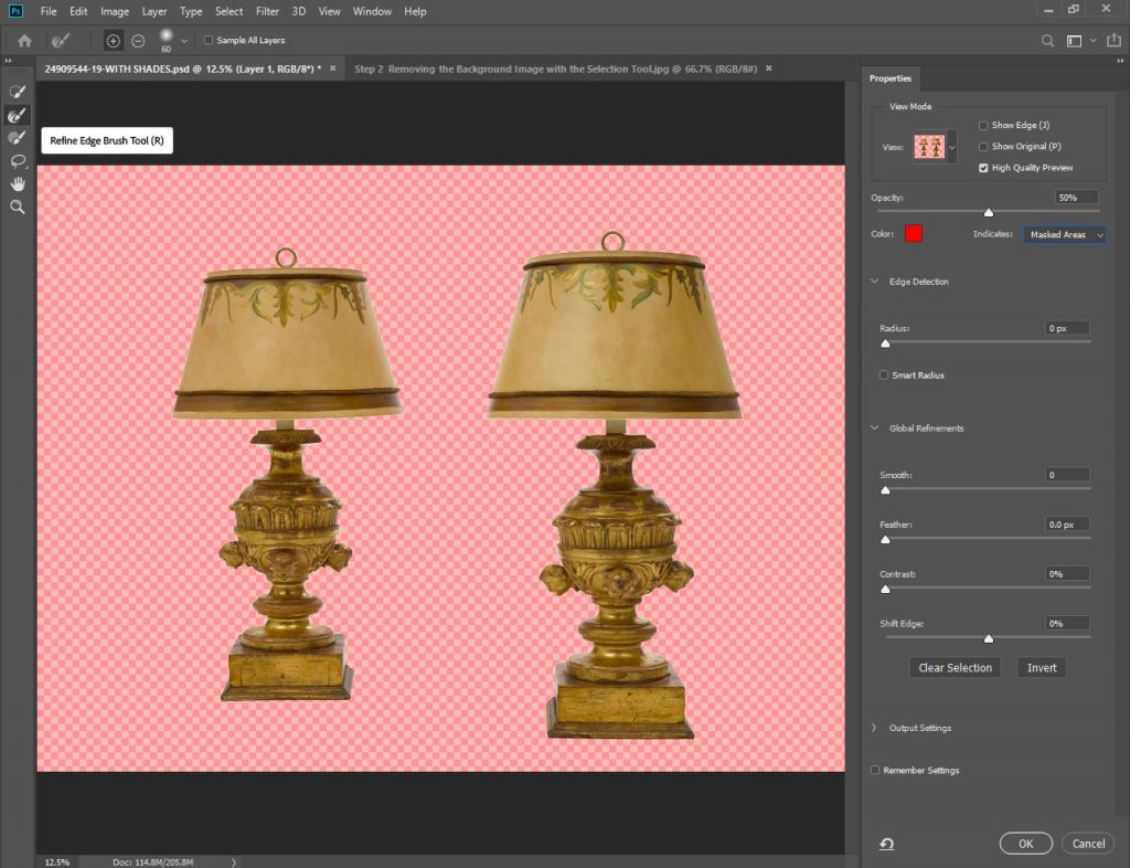 Photoshop Background Removal Step 3