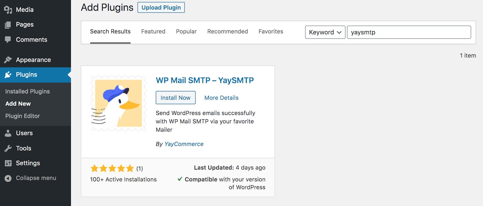 YaySMTP plugin directory