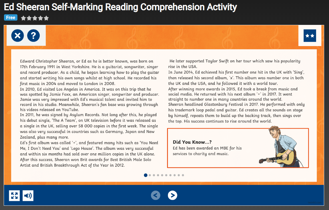 - Are There Interactive Comprehensions That Don't Need Marking?