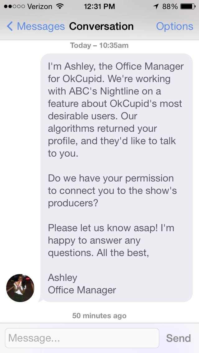best okcupid messages