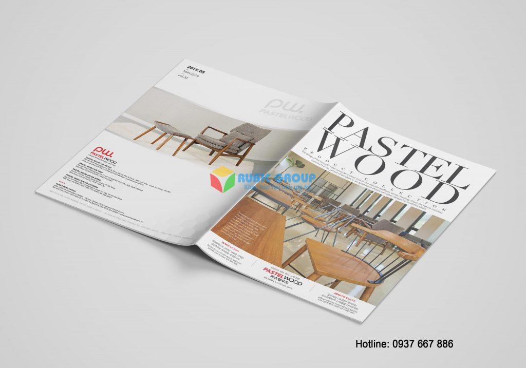 Trang bìa của mẫu thiết kế catalogue đơn giản
