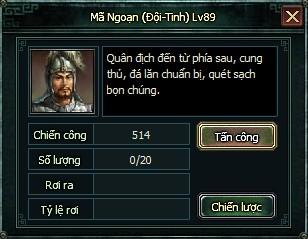Chinh chiến phó bản trong webgame hay Ngọa Long
