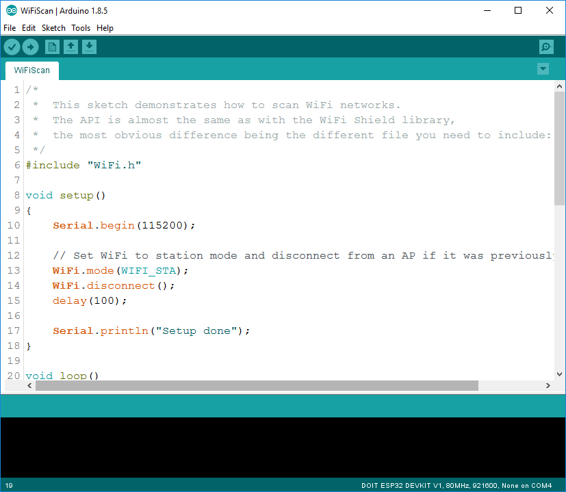 Cửa sổ mới trong Arduino IDE