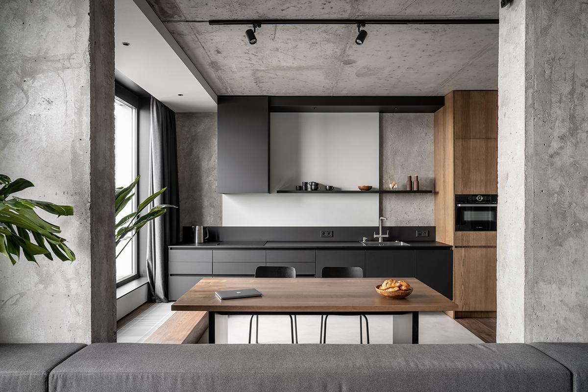 Дизайн квартири у відтінках сірого
