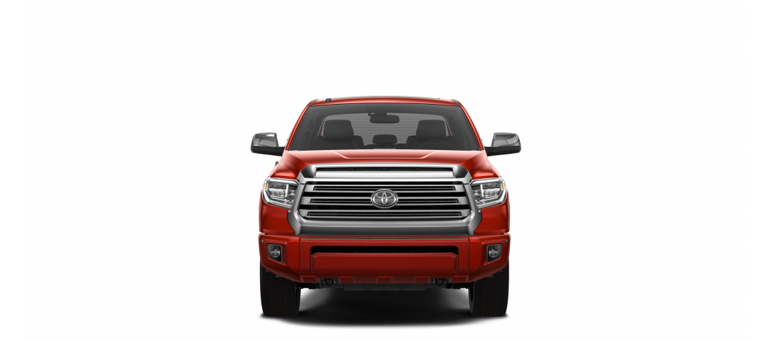 a red Toyota Tundra facing forwards for sale at Castlegar Toyota