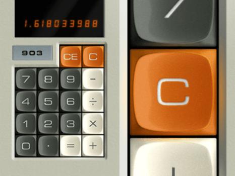Skeuomorphic Design of a Calculator