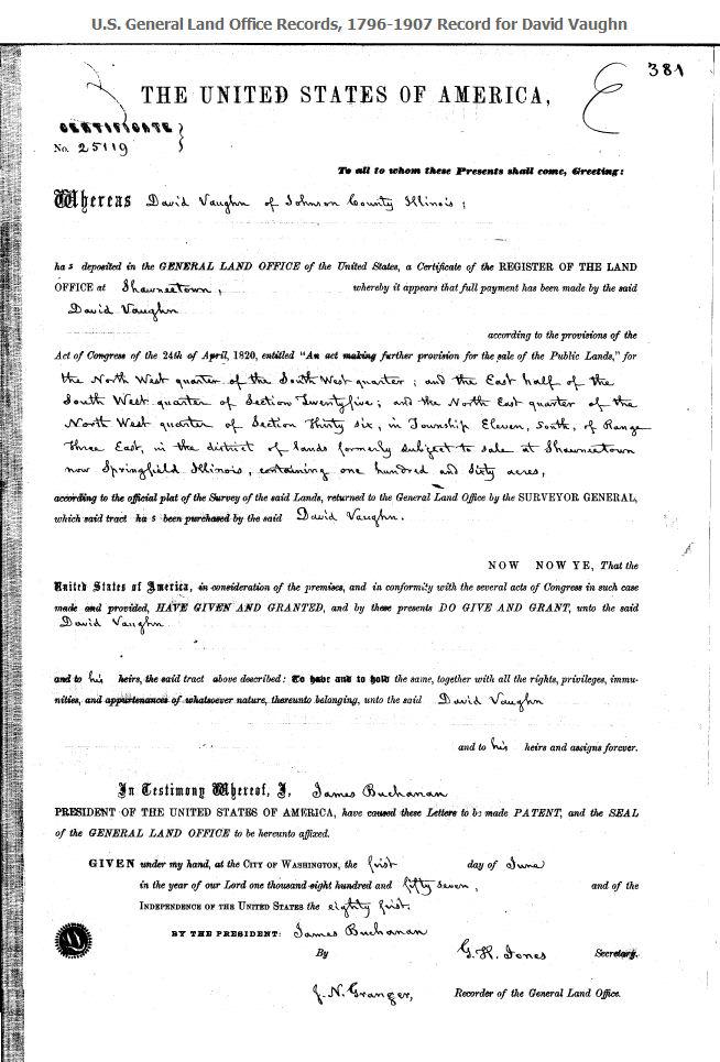 David Vaughn Land Patent Document.jpg
