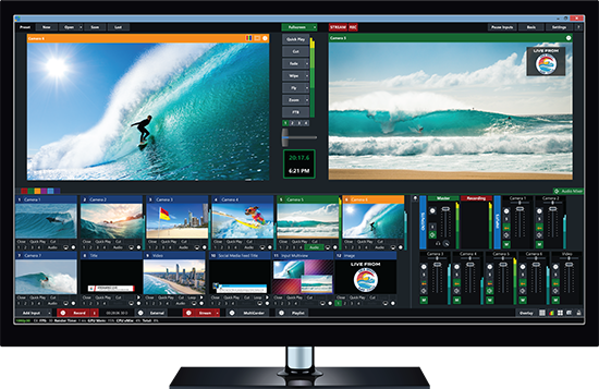 VMix Software Video App for Church Streaming Software Screenshot