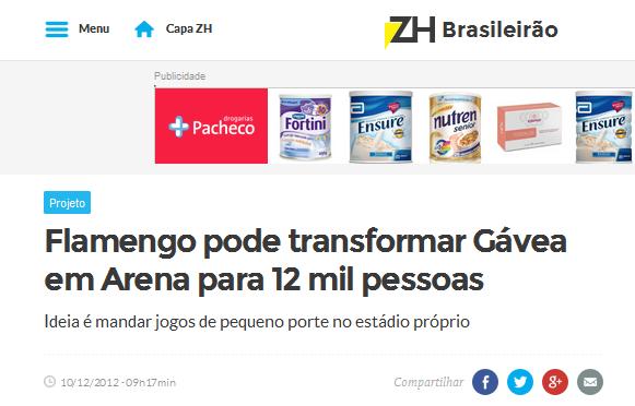 Mentiras para esconder que o Flamengo não tem estádio