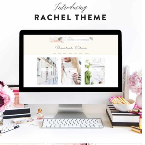 Rachel-Chic-Wordpress Themes Pink & White