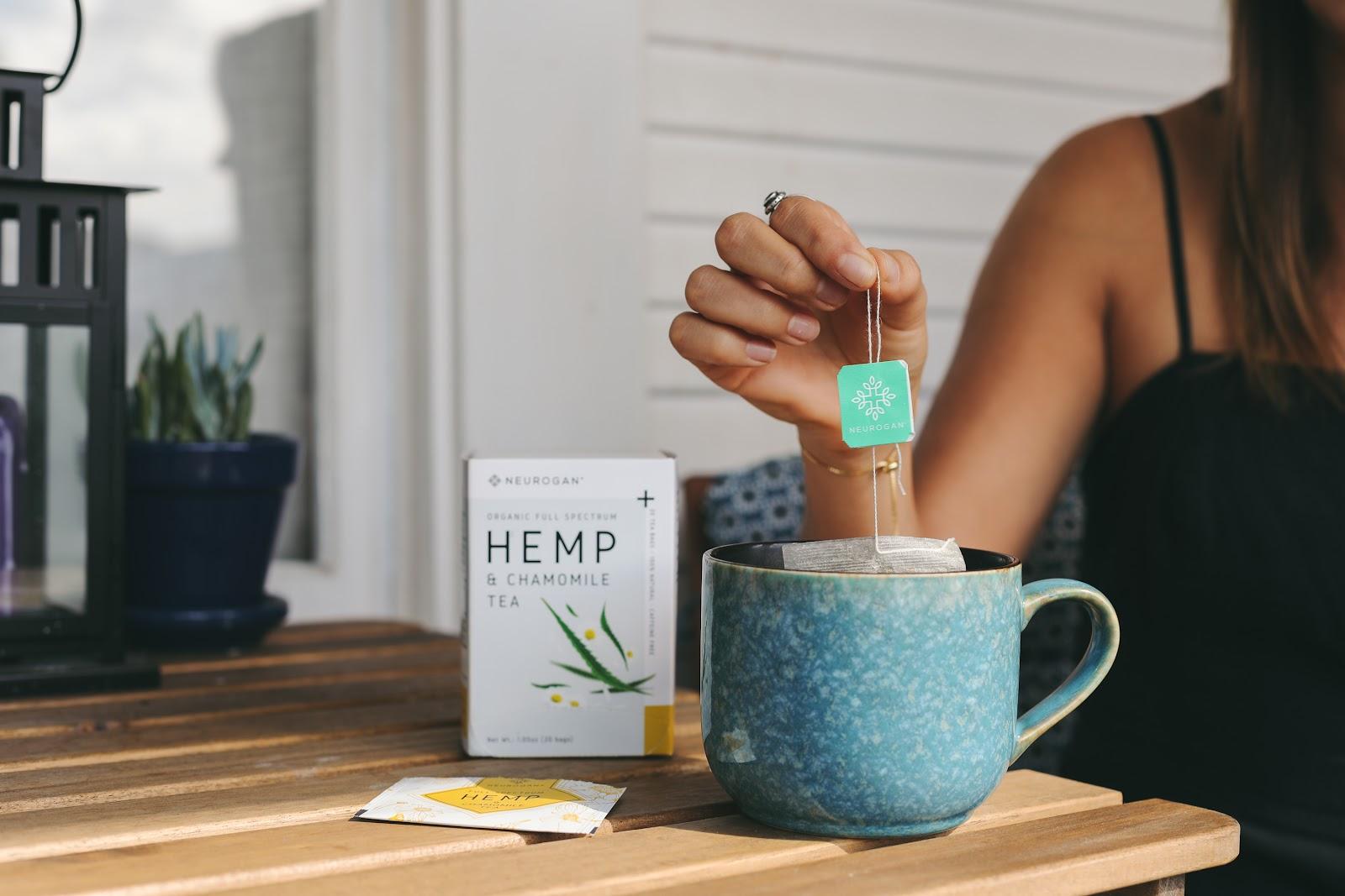 neurogan cbd tea with chamomile and hemp