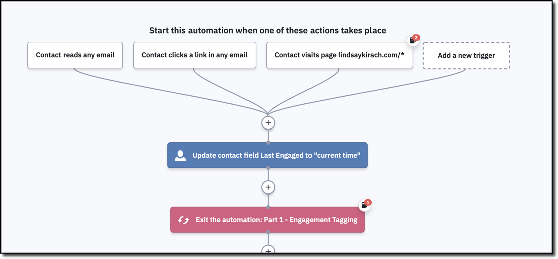 In order to test automations in ActiveCampaign you may need to remove the automation trigger