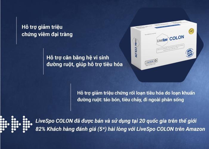 LiveSpo Colon - Bào tử lợi khuẩn dành cho người viêm đại tràng - Ảnh 4