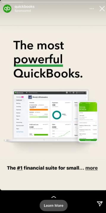 Quickbooks post on Instagram