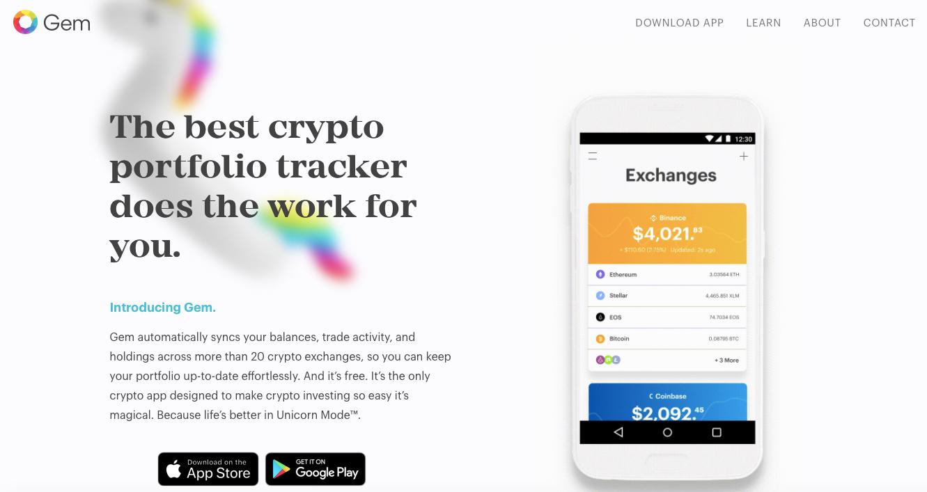 Gem crypto app website