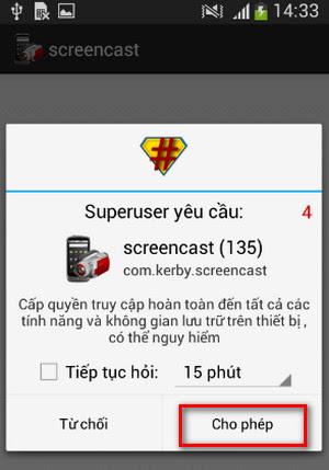 Ứng dụng quay video màn hình trên Android