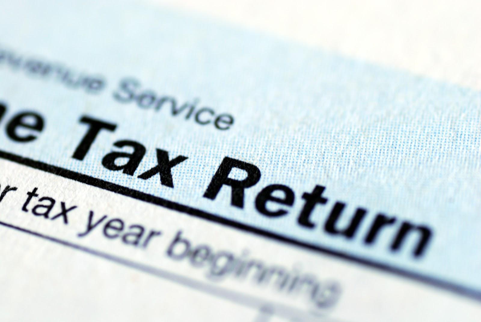 Closeup shot of a tax return