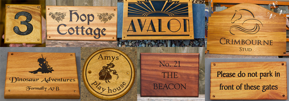Iroko is a oil rich timber making it a great choice for outdoor wooden signs. Crafted here at The Sign Maker.
