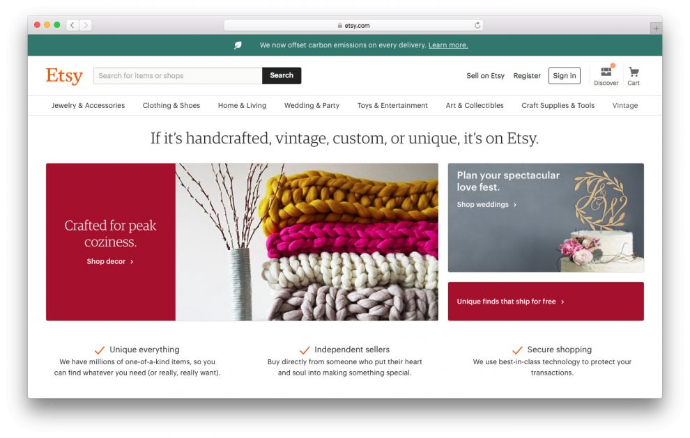 etsy é um tipo de negócio online para ecommerce