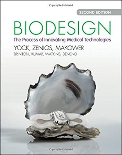 The cover of the book Biodesign, The process of Innovating Medical Technologies with a light gray background. There is a picture of a gray sea shell with a bracelet inside it.