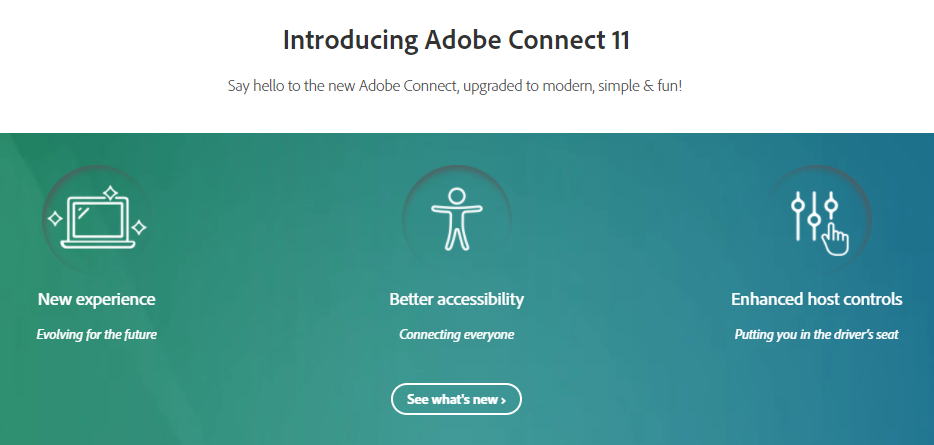 Introducing AdobeConnect 11 interface