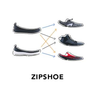 Brevetto Zipshoe scarpa componibile