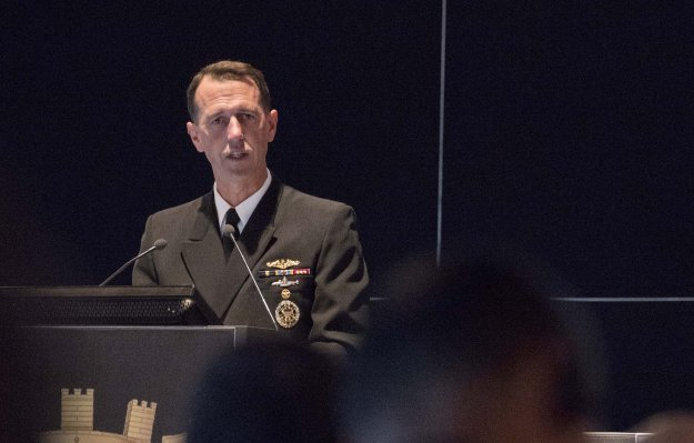 Adm. John Richardson attends the 10th Regional Seapower Symposium (RSS) for the Navies of the Mediterranean and Black Sea Countries in Venice, Italy on Oct, 22 2015. US Navy Photo