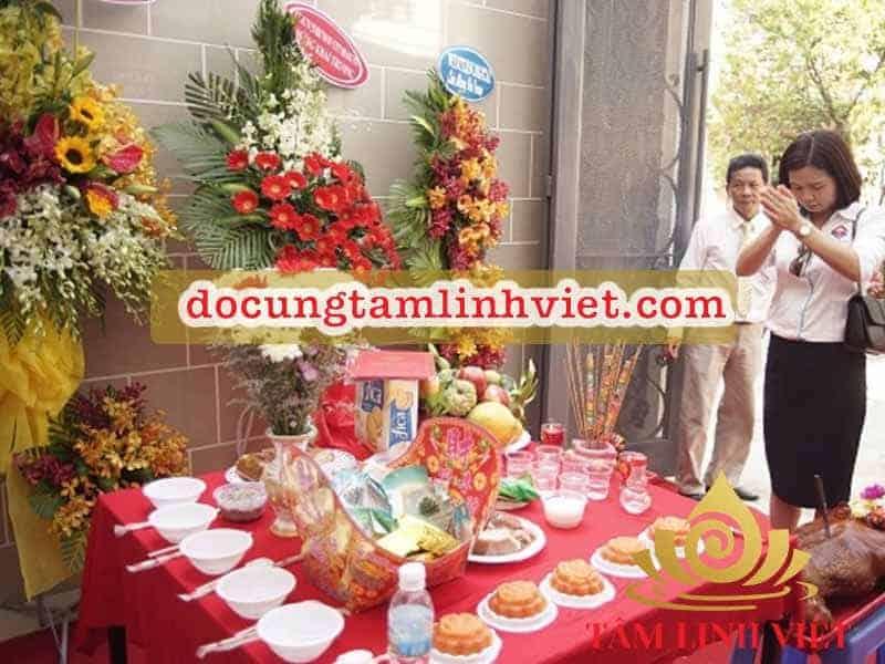 Mâm cúng khai trương khách sạn đầy đủ, chuẩn phong tục truyền thống Việt