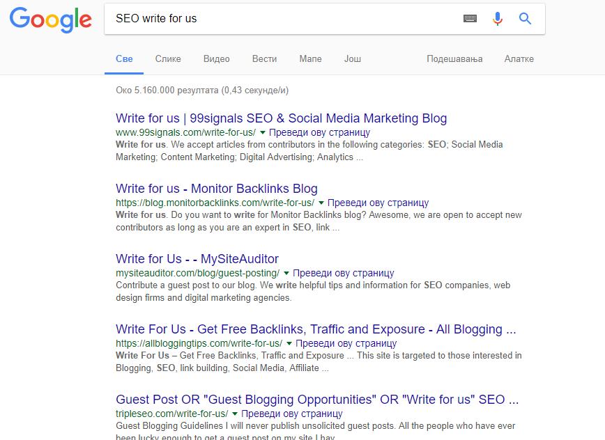 Truy vấn tìm kiếm thông thường của Google
