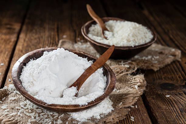 The rice flour is made from ground rice that is high in protein and fiber and is also a goo substitute for cornstarch.