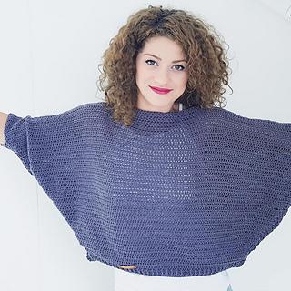 bat wings sweater, free crochet sweater pattern