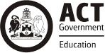ACT Government Education logo.