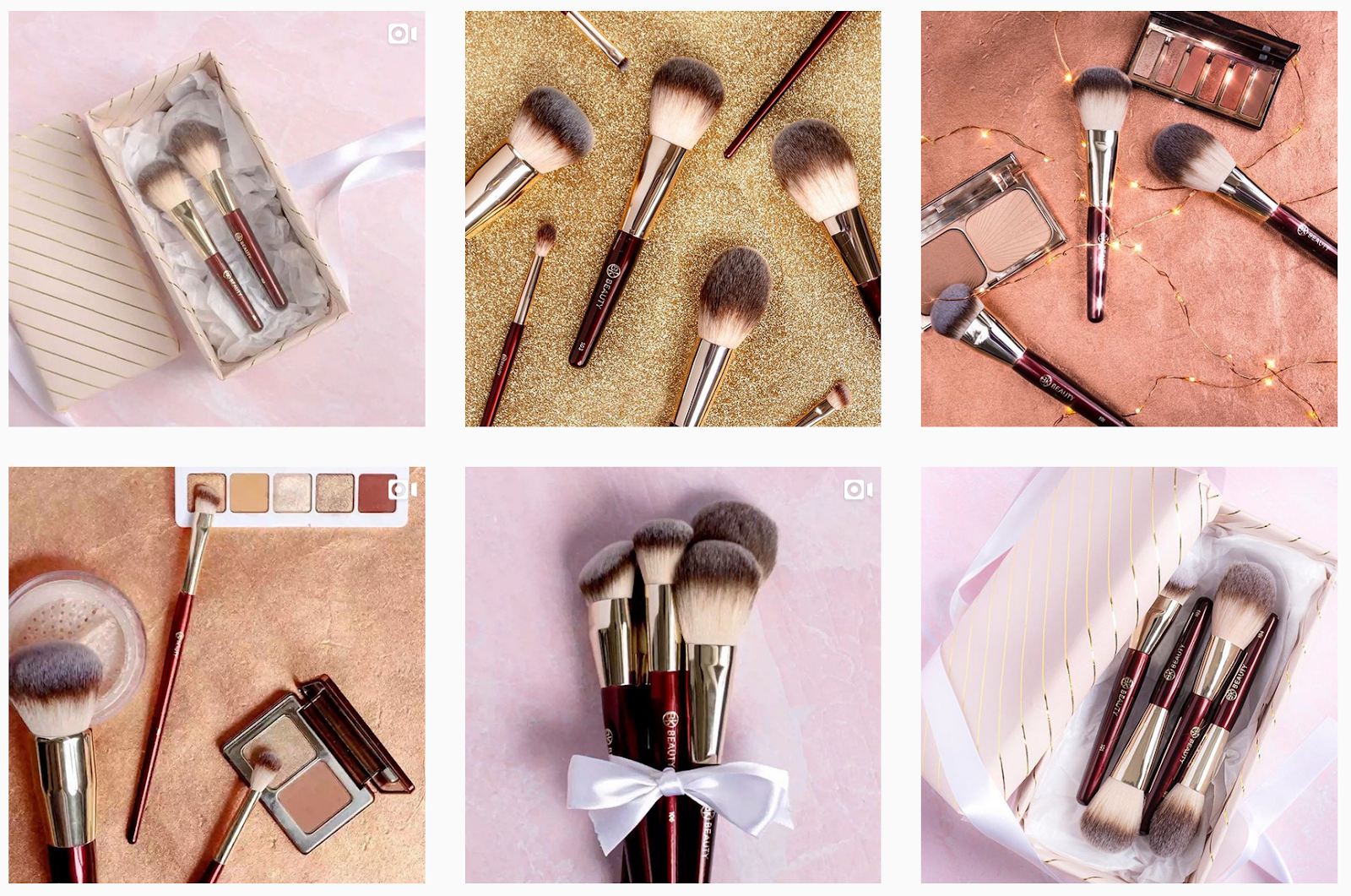 BK Beauty - Product Gallery with Makeup Powders and Brushes