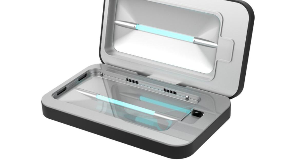 Kết quả hình ảnh cho The PhoneSoap Smartphone Sanitizer