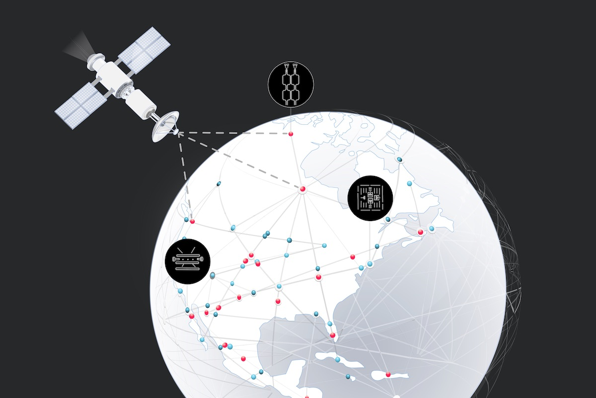 A global quantum internet connecting different quantum platforms