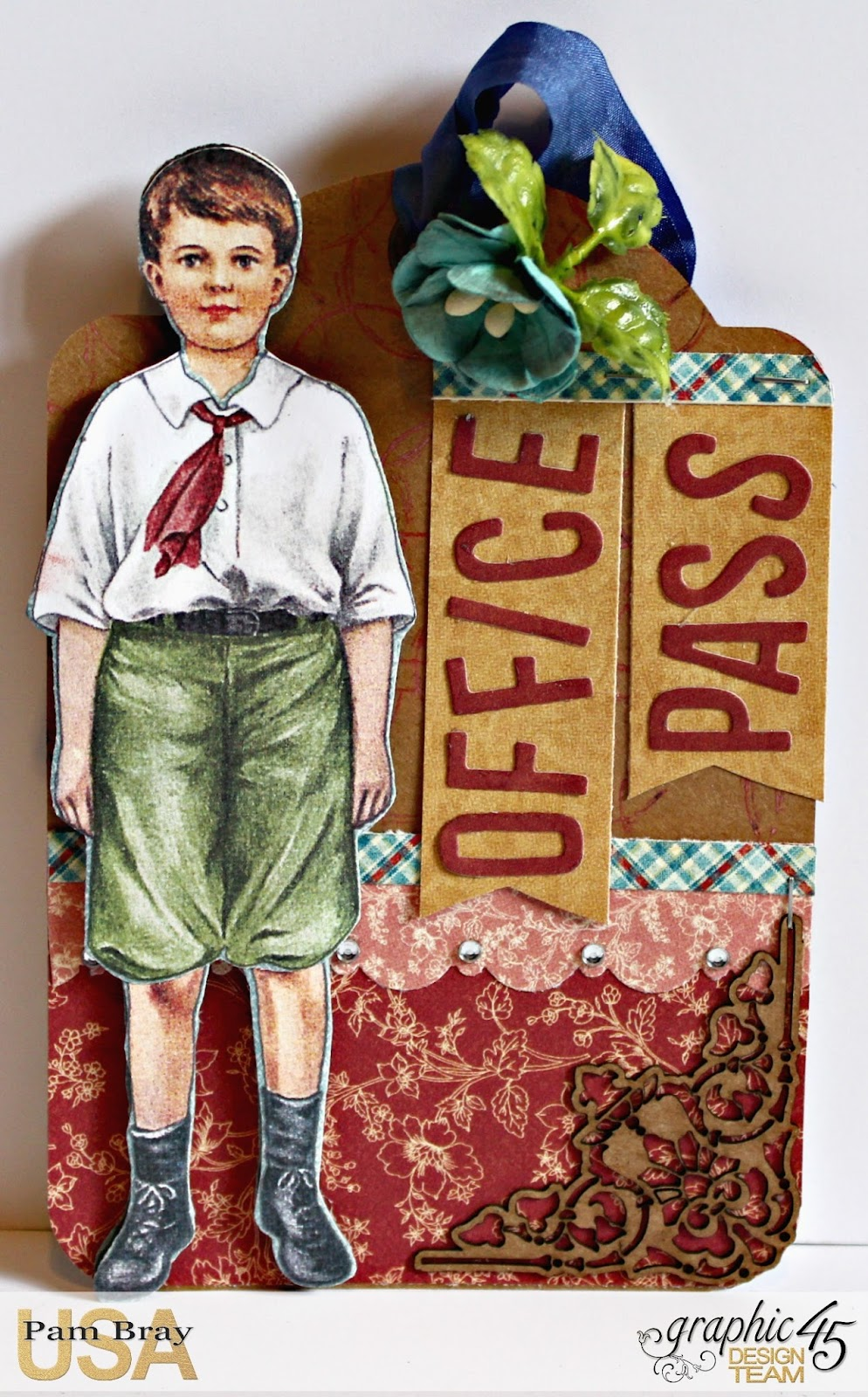 2017 G45 Brand Ambassadors- 2017 Pam Bray  - June 2017 - Penny's Paper Dolls Desk Organizer  with Tutorial Photo 11_7256.jpg