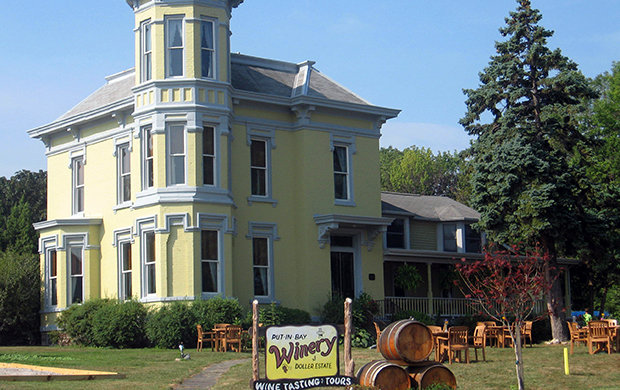 yellow Put-In-Bay Winery building